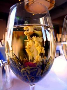 Blooming tea at L'Espalier.